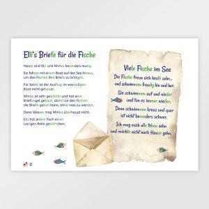 Gefühlvolle Briefe von Elli – Silbierte Ausgabe - Lernmaterial für Kinder